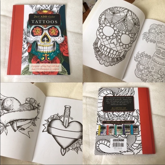 FREE⭐️ Tattoo Adult Colouring Book